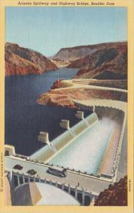 Arizona Boulder Dam Arizona Spillway and Highway Bridge Curteich