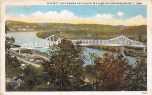 B45/ Pomeroy Ohio Postcard c1910 Pomeroy Bend Bridge Ohio River