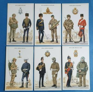 British Army Support Arm & Services Postcards Set of 6 Set 1 by Geoff White Ltd
