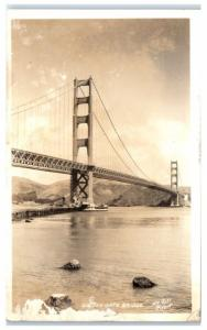 Vintage RPPC San Francisco Golden Gate Bridge c. 1925-1942