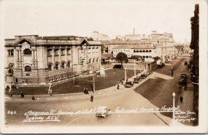 Sydney Australia Macquarie Street Hospital Mitchell Library RPPC Postcard E71