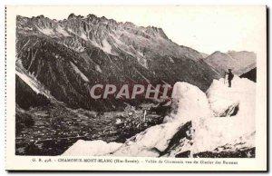 Old Postcard Chamonix Chamonix Valley for the Bossons glacier