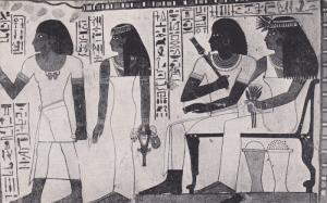 THEBES , Egypt ; The Gardener Tomb. Sennefera and his wife, 00-10s