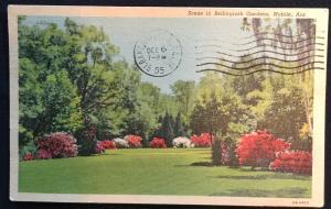 Used Linen Postcard Bellingrath Gardens Mobile Alabama LB