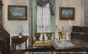 Virginia Mt Vernon Mrs Washington's Sitting Room Curteich