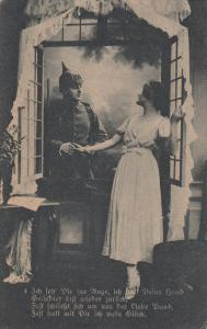 Soldier visiting his love interest, Poem, 00-10s