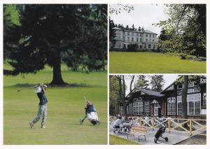 postcard Czech MARIANSKE LAZNE Golf