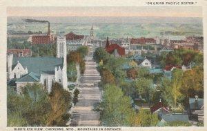 CHEYENNE , Wyoming , 1910s ; Bird's Eye View