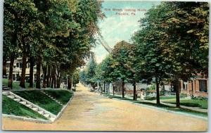Franklin, Pennsylvania Postcard 15th Street, Looking North 1911 Cancel