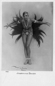 France Josephine Baker Entertainer Signed Pary, 140 Real Photo Postcard
