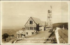 Catskills Point Lookout Bldg Observation Tower East Windham NY RPPC c1930