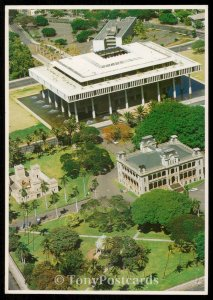 Iolani Palace, Iolani Barracks, The Bandstand and State Capitol