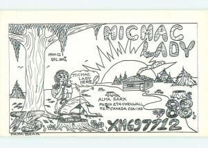 risque SEXY GIRL - QSL HAM RADIO CARD Cornwall Prince Edward Island Canada t1223