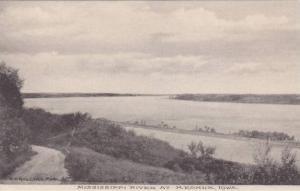 Scenic View Shores of Mississippi River at Keokuk, Iowa 1900-10s