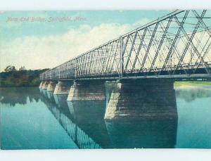 Unused Divided-Back BRIDGE SCENE Springfield Massachusetts MA H8368