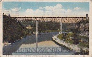 The New High Bridge And Kentucky River At High Bridge Kentucky 1924