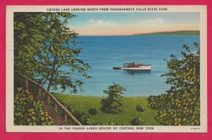 Ca. 1925 Cayuga Lake  in the Finger Lakes Region of NY Picture Postcard - H-27