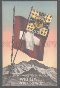 105231 Visit Kaiser's WILHELM II in SWITZERLAND Vintage PC