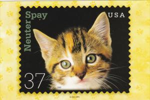 United States 37 cent Neuter and Spay Stamp 2001