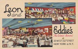 New York City Leon and Eddie's Restaurant Interior West 52nd Street sk4339