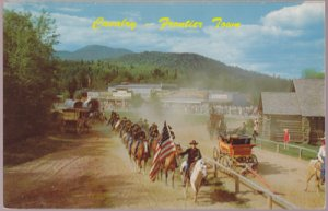 Lake George NY - Cavalry escorting wagon train survivors at er Town 1950s Fronti