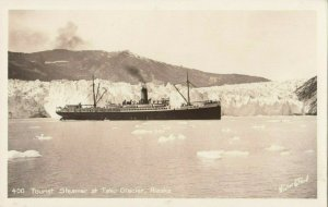 RP: TAKU GLACIER , Alaska ,  & 1940s ; Tourist Steamship