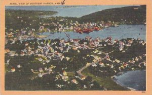 Maine Boothbay Harbor Aerial View Of Boothbay Harbor 1952