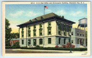 ELIZABETH CITY, North Carolina NC ~ POST OFFICE & Government Building Postcard