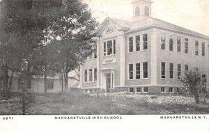 Margaretville High School New York Postcard