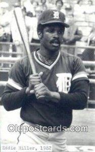 Eddie Miller Base Ball Non Detroit Tigers Baseball Unused sticker on front wi...