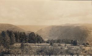 RP: MOHAWK TRAIL , Massachusetts , PU-1919 ; Where the MA & VT Hills meet