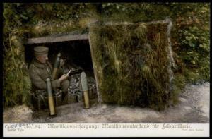 Germany Austria WWI Army Artillery Ammo Depot Patriotic Gloria Viktoria PP 66399