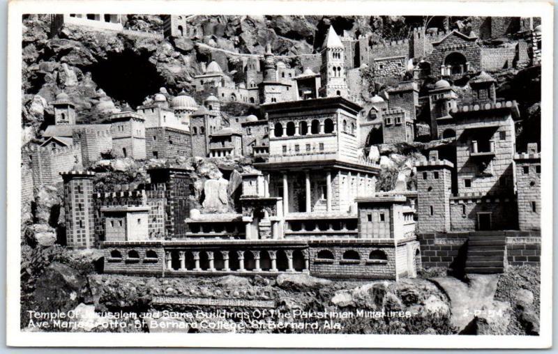 Alaska RPPC Real Photo Postcard Temple of Jerusalem St. Bernard College 1950s