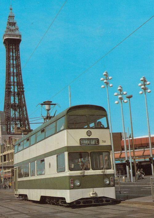 Starr Gate 1979 Blackpool Tram Bus Postcard