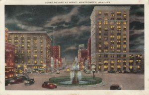 MONTGOMERY , Alabama, 1930-40s ; Court Square at night