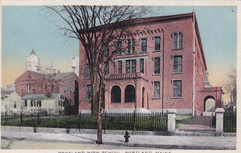PORTLAND, Maine, 1900-1910's; Portland High School