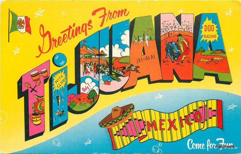 1950s TIJUANA MEXICO Large letters multi View  postcard 4526