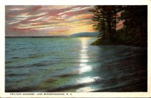 New Hampshire Lake Winnipesaukee Twilight Shadows 1927