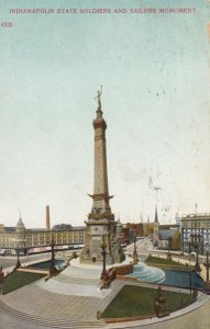 INDIANAPOLIS , Indiana , 1909 ; Solders & Sailors Monument