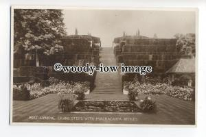 tq0795 - Kent - Grand Steps with Macracarpa, at Port Lympne in Hythe - Postcard