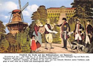 Friedrich der Grosse und der Muhlenbesitzer von Sanssouci Muhle Potsdam