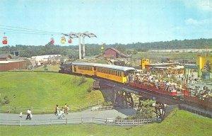 Bronx NY Amusement Park Freedomland Santa FE' Railroad Postcard