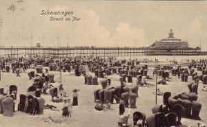Scheveningen , Netherlands, PU-1907 ; Strand en Pier