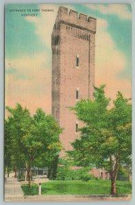 Kentucky~Entrance To Fort Thomas~Vintage Postcard