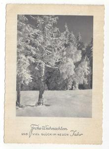 Germany Frohe Weihnachten Gluck im neuen Jahr 1954 Postcard