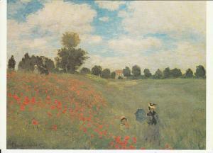 POPPIES CLAUDE MONET art postcard