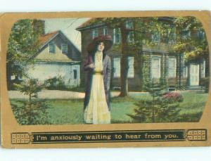 Divided-Back PRETTY WOMAN Risque Interest Postcard AA7924