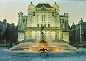 Canada Victoria Parliament Buildings and Centennial Fountain
