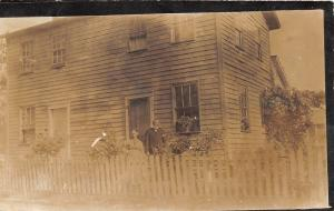 E32/ Dayton? Ohio Real Photo RPPC Postcard c1910 Hubert Smith Home