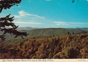 Great Smoky Mountains National Park From The Blue Ridge Parkway Charlotte Nor...
